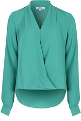 Alice And You Wrap Front Blouse Teal