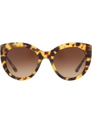 Tory Burch Oversized Sunglasses Brown