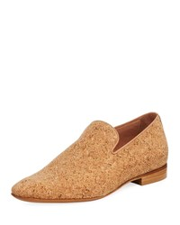 Donald J Pliner Men's Pazano Herringbone Cork Loafer Beige