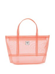 Opening Ceremony Gingham Small Chinatown Tote Orange