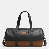 Coach Rip And Repair Metropolitan Soft Gym Bag In Polished Pebble Leather Bk Black Mahogany