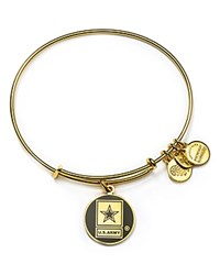 Alex And Ani Us Army Expandable Wire Bangle Gold