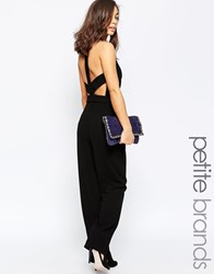 Vero Moda Petite Flared D Ring Jumpsuit Black