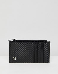 River Island Card Holder With Zip Pocket In Black Black