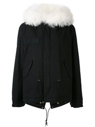 Mr And Mrs Italy Army Mini Parka Women Cotton Lamb Skin Polyester Polypropylene Xs Black