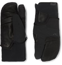 Kjus 7Sphere Ii 2 In 1 Leather And Stretch Ski Mittens Black
