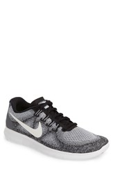 Nike Men's Free Run 2017 Running Shoe Grey White Platinum Black