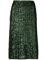Gianluca Capannolo Sequin Embroidered Skirt Green