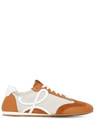 Loewe 10Mm Cotton And Leather Sneakers Brown