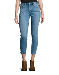Free People Five Pocket Skinny Jeans Light Denim