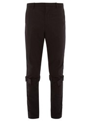 Paul Smith Knee Strap Technical Nylon Trousers Black