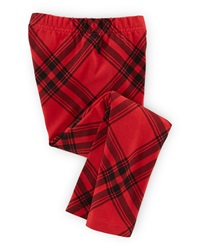 Ralph Lauren Childrenswear Plaid Stretch Jersey Leggings Red Black Size 2 6X