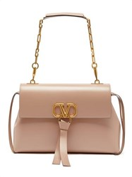 Valentino V Ring Medium Leather Shoulder Bag Light Pink