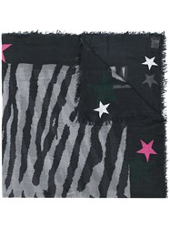 Zadig And Voltaire Star Logo Scarf Grey