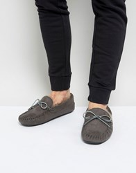 Kg By Kurt Geiger Moccasin Slippers Grey