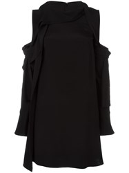 3.1 Phillip Lim Cold Shoulder Dress Black