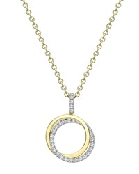 Kiki Mcdonough Lola 18K Gold Diamond 2 Ring Pendant Necklace