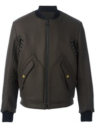 Tim Coppens Ma 1 Laced Bomber Jacket Green