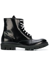 Low Brand Lace Up Ankle Boots Black