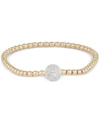 Wrapped Diamond Dot Stretch Bracelet 1 6 Ct. T.W. In 14K Gold Over Sterling Silver