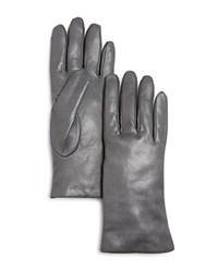 Bloomingdale's Leather Gloves Gray