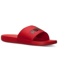 Puma Men's San Paulo Slide Sandals From Finish Line High Risk Red