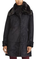 Lauren Ralph Lauren Faux Shearling Jacket Black
