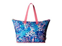 Lilly Pulitzer Getaway Packable Tote Multi Hit The Spot Tote Handbags Blue