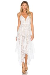 For Love And Lemons Rosemary Midi Dress White