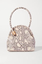 Louise Et Cie Isel Snake Effect Leather Tote Snake Print
