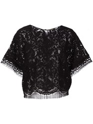 Adam By Adam Lippes Lace T Shirt Black