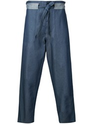 Andrea Pompilio Baggy Jeans Men Cotton 46 Blue
