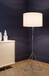 Tango Lighting Signora Floor Lamp Black Tan White
