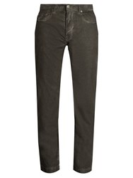 Massimo Alba Alunga Needlecord Cotton Trousers Black