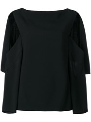 Chalayan Open Sleeve Blouse Black