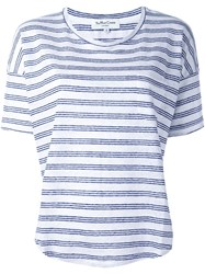 Ymc Triple Striped T Shirt Blue