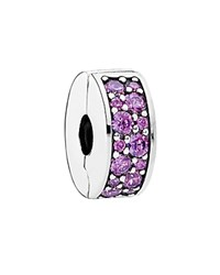 Pandora Design Pandora Clip Sterling Silver And Cubic Zirconia Purple Elegance Moments Collection