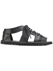 Marsell Laced Cut Out Sandals Black