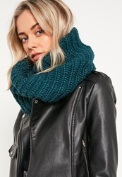 Missguided Knitted Snood Green