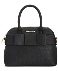 Rampage Dome Satchel With Bow Black With Bow