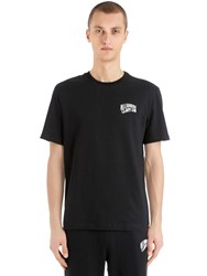 Bbc Billionaire Boys Club Arch Logo Printed Cotton T Shirt Black