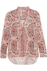 Alice Olivia Anabel Printed Crepe Blouse Antique Rose