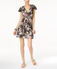 Inc International Concepts Petite Floral Print Wrap Dress Only At Macy's Mystic Garden