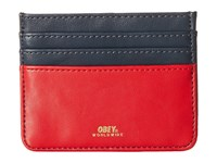 Obey Gentry Deuce Id Wallet Navy Red Wallet Multi