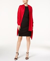 Calvin Klein Ck Logo Wrap And Scarf In One Rouge Red