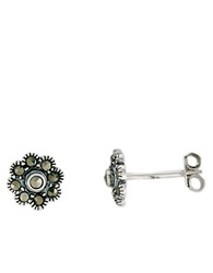 Lord And Taylor Sterling Silver Flower Stud Earrings
