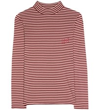 81 Hours Elfie Striped Cotton Top Red