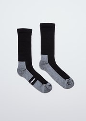 Rick Owens Hiking Socks Black Milk
