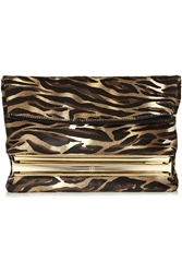 Tamara Mellon Dazzle Animal Print Calf Hair Clutch