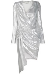 Each X Other Asymmetric Ruched Dress Silver